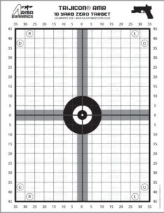 image about Printable 25 Yard Zero Target named Drills Move by way of Move Gun Performing exercises